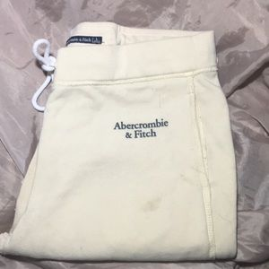 Yellow Abercrombie & Fitch sweatpants Size L